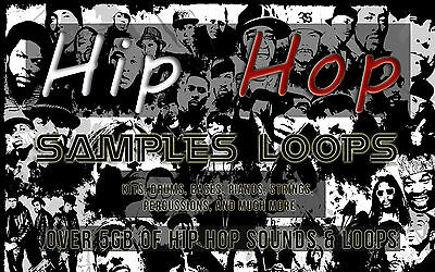 19 GB MUSIC SAMPLE & LOOPS (windows & mac) hip hop/r&b