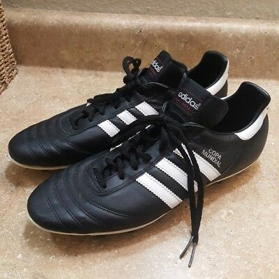 cd5189f0dfdc Adidas Men's Copa Mundial FG Black White Leather Soccer Cleats Shoes Size  10.5