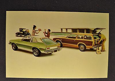1974 Ford Pinto Postcard Brochure Runabout Squire Wagon Excellent Original 74