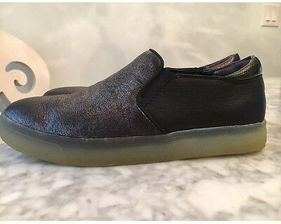 e28d504d9a5f2 SAM EDELMAN WOMENS size 7 Marvin Slip On Sneakers Black Suede White ...