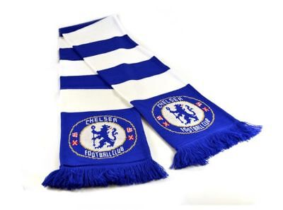 Chelsea FC JACQLARD BAR Official Product Speckled Scarf Gift Brand New Gift Idea