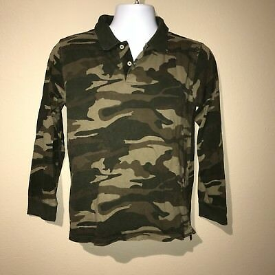 a877050c FADED GLORY BOYS Camouflage Long Sleeve Polo Shirt - XL (14/16 ...