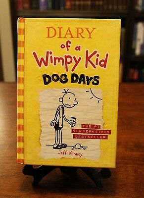 Diary of a Wimpy Kid: Dog Days by Jeff Kinney (Book 4, Hardcover) *BRAND NEW*