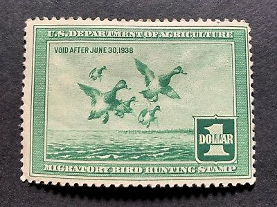 WTDstamps - #RW4 1937 - US Federal Duck Stamp - Mint H