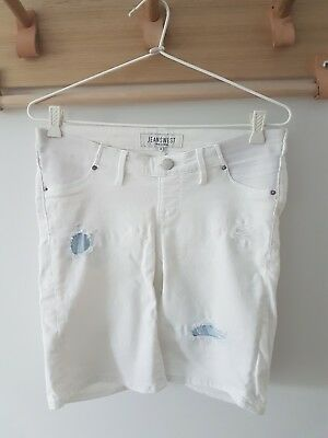 Jeanswest Maternity White Shorts Size 8