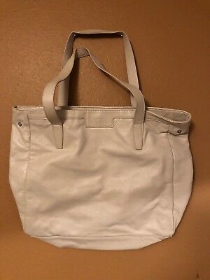 Givenchy Parfums Tote Bag Faux Leather Cream Beige Tan Handbag Purse Shopper 9655d7db6ddae