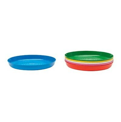 Ikea New Kalas Children Plate. Pack of 6 Assorted Colour Kids Plastic Plate