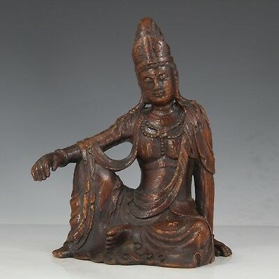 Chinese Exquisite Hand carved Guanyin Carving Bamboo root statue