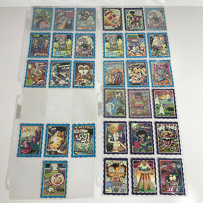 Oddbodz Collectors Cards Lot Blue & Purple Smiths Chips Glow Zone 31 Cards