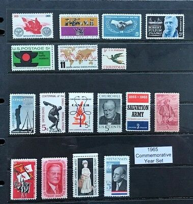 1965 US Commemorative Year Set (Complete) #1182, 1261-1276 MNH  FREE SHIPPING