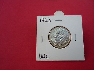 1953 AUSTRALIAN ONE SHILLING UNC  Value  $85