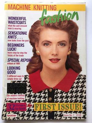 MACHINE KNITTING FASHION ~ Issue No 1 ~ FIRST ISSUE ~ 1980s