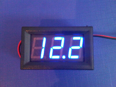 Blue 12v Voltmeter Panel Gauge Dash RV Boat Camper Caravan Car 4x4 Free UK Post
