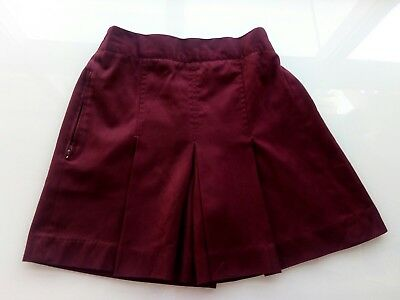 Girls School Uniform Skort. Maroon, size 8.
