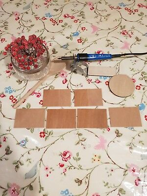 RECTANGLE Shape Craft Blank 22.8x20.3cm BIRCH Wood Plaque Sign Pyrography