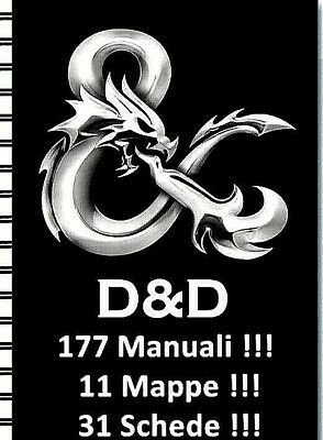 Ebook Dungeons & Dragons manuali D&D DnD game fantasy gioco ruolo Pathfinder