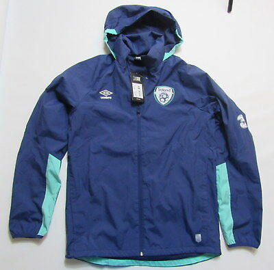 IRELAND Training NEW Rain ZIP Jacket UMBRO EIRE The Boys in Green /adult SIZE S