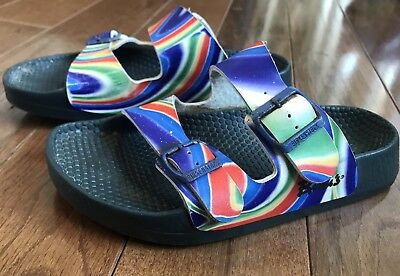 1a63b731029a Womens Birkenstock Birki s Psychedelic Rainbow Sandals Red White Blue 38    39.5