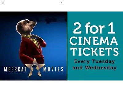 Cinema Tickets Bogof Vue Odeon Cineworld Code Meerkat 2 For 1