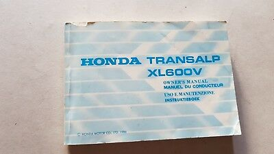 Honda XL 600 V Transalp 1986 manuale uso ITALIANO originale owner's manual
