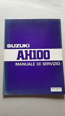 SUZUKI AH 100 Scooter  manuale officina originale ITALIANO workshop manual