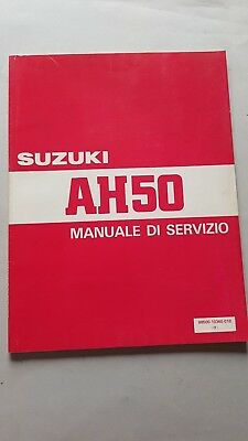 SUZUKI AH 50 Scooter 1992 manuale officina originale italiano + catalogo ricambi