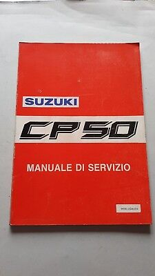 SUZUKI CP 50 Scooter 1990 manuale officina originale italiano workshop manual