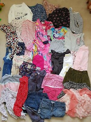 Girls Clothes Bundle (4-8 Yrs) Jumpers, Shorts, Trousers, Skirts Etc - 30+ Items