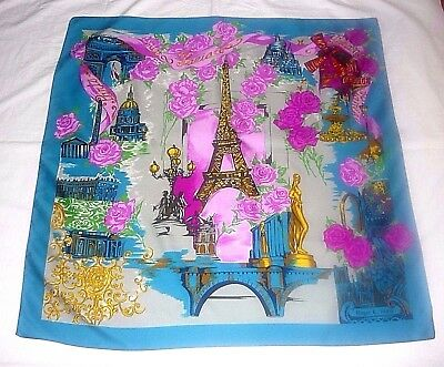 Roger L. Elegant Vintage Luxurious Polyester Paris Design Scarf Made in  Italy! a63b798247e