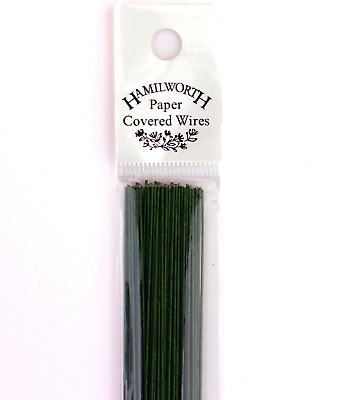 Hamilworth - Paper Covered Wires - Dark Green 28 Gauge - 50 Per Pack - For...