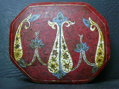 (eN445)  Very Old Islamic Persian hand painted  jewellery box.  Museum piece!!!