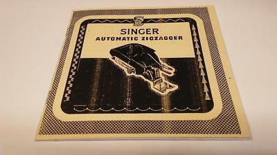Singer 160985 Featherweight ZigZagger Instruction Manual