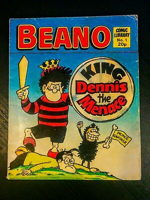 Beano Comic Library First Issue No. 1 Year Published 1982 (Dennis the Menace)