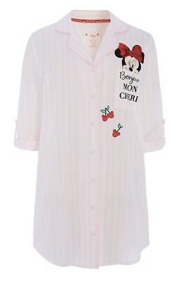 Brand New With Tags Primark Disney Minnie Mouse Pink Striped Nightshirt