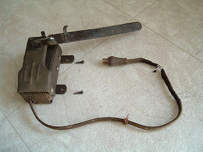 Vintage National Sewing Machine Knee Control MW Sears Eldredge Rotary Cabinet