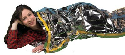 """Emergency Survival Mylar Thermal Sleeping Bag (2 Pack) - Grizzly Gear - 84"""" X"""