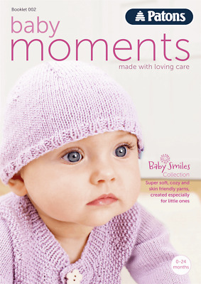 Knitting Pattern BOOK 3 x PATONS Baby Smiles 4ply wool Yarn Cardigan & Hat Kit