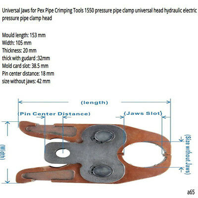 Universal Jaws for Pex Pipe Crimping Tools Pipe Clamping Tools Plumbing