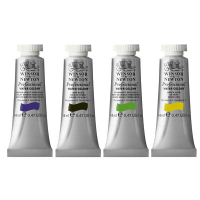 Winsor & Newton Artists Quality Professional Watercolour - Individual 14ml Tubes