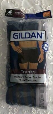 Gildan Boxer Briefs Trunk Men's Underwear Premium Cotton 4 Packs ( TOP USA) M
