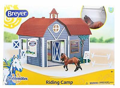 Breyer Horses Stablemates Size Riding Camp Gift Set #59212 Horse, Barn, Accessor