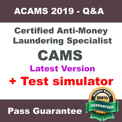 ACAMS Certified Anti-Money Laundering Specialist CAMS Exam Dump PDF Q&A + VCE