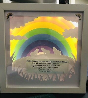 Pet Memorial Light Up Frame