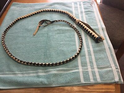 Authentic Antique Hand-Made Mexican Bull Whip-6 Feet Long