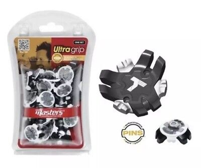 Masters Ultra Grip Golf Shoe Spikes Cleats Pack Of 20 PINs System Lock Fitting