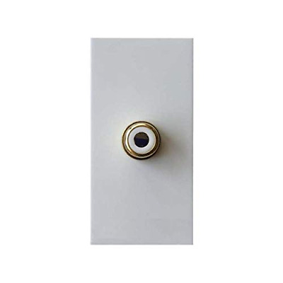 Varilight - Phono (RCA) Module In White with one Female Socket. Use Data Grid Pl