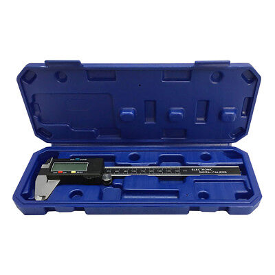 """6"""" 150mm Large LCD Electronic Fraction Fractional Digital Caliper Carbide Jaw"""
