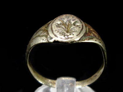 OLD VINTAGE ANTIQUE SILVER RING, TOP DECORATION from Early 20th. Century!!!