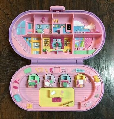 Rare Vtg 1992 Bluebird Toys Polly Pocket School Compact w/2 Ink Pads & 4 Stamps