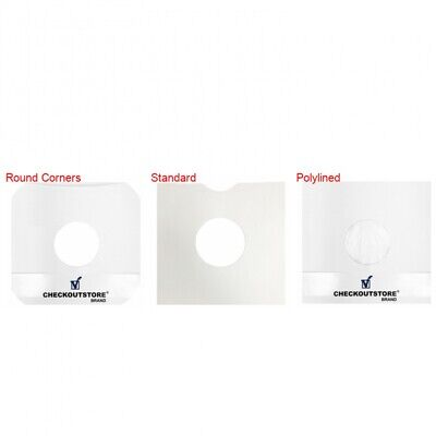"CheckOutStore Paper Record With Hole for 10"" Vinyl Records (Inner Sleeves)"